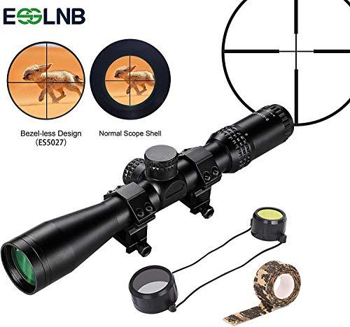 ESSLNB Zielfernrohr Luftgewehr 3-9x44 AOEG Airsoft Red Dot Visier mit Schutzkappe und Tarnband Randlose Technologie Größes Sichtfeld Grün FMC All-Optik Glas für Jagd Softair und Armbrust