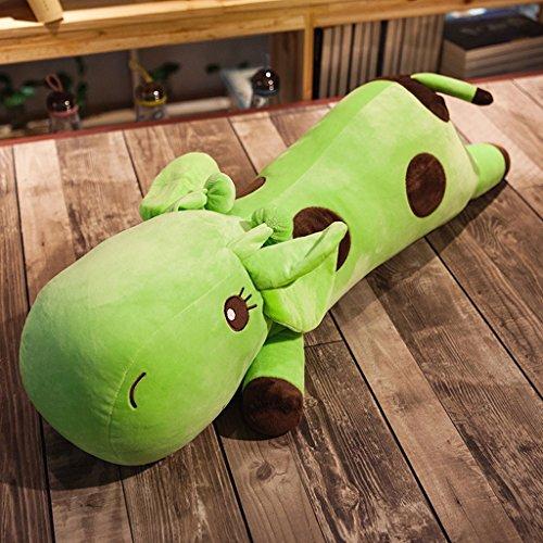 WYQLZ Mignon Cartoon Giraffe Long oreiller Canapé Coussin de chevet Creative Fashion Hold oreiller ( Couleur : Vert , taille : 60 cm )
