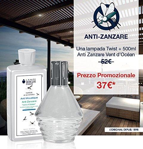 Lampe berger - cofanetto anti zanzare twist con 500ml di anti zanzare vento d'oceano