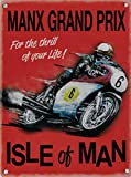 Nuovo 30 x 40 cm Manx Grand Prix, Isola di Man metal Advertising Wall Sign