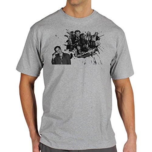 Pulp Fiction Ouentin Tarantino Movie Splash Background Herren T-Shirt Grau