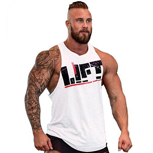 Herren Fitness Muskel Gym saugfähige Weste Bodybuilding Lift Stringer Tank Top,M-XXL