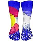 Women's Men's Classics Socks Colorado Flag Pop Art Athletic Stockings 30cm Long Sock One Size