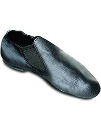 Sansha Children Black Modernette Canvas Slip-on Split Sole Jazz Shoes 5T-6 Youth