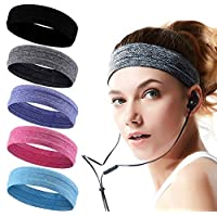 Headbands for Men and Women Mens Sweatband & Sports Headband Moisture Wicking Workout Sweatbands for Running, Cross Training, Yoga and bike helmet friendly