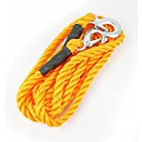 Prime - Arfa Strong Nylon 18 mm Thick Towing Rope with Heavy end Locking Consoles - Yellow.