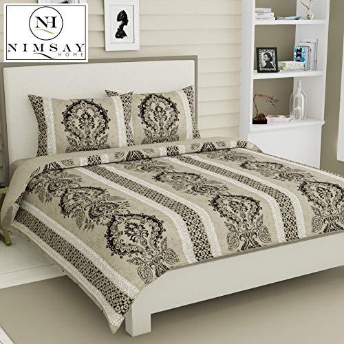 Nimsay Home Vienna Barroco Estilo vintage clásico Edredón Funda nórdica 100% algodón egipcio T230 Juego de sábanas de ropa de cama de satén (Beige / Light Brown, King)