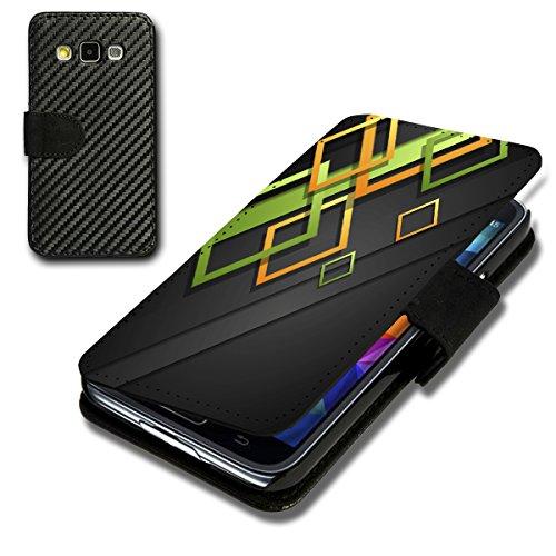 Book Style Carbon Flip Handy Tasche Hülle Schale Motiv Foto Etui für Sony Xperia Z5 - Flip CB8 Design4