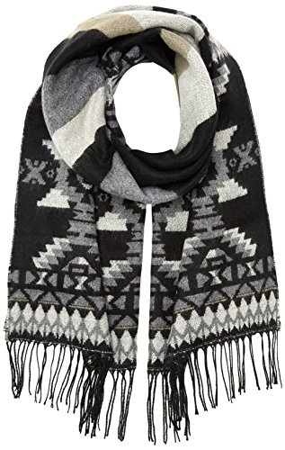 PIECES Damen Schal Pcficky Long Scarf, Mehrfarbig (Black Black), One size