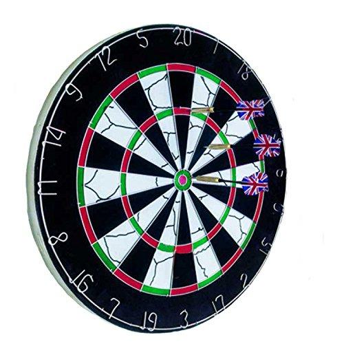 *SIDCO ® Profi Dartscheibe Sisal Dartspiel 4,5 kg Dartboard + 6 Dart Pfeile Ø 45 cm*