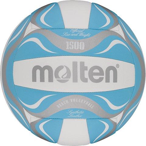 molten Beach-Volleyball BV1500-PP (weiß/lila/silbe Image