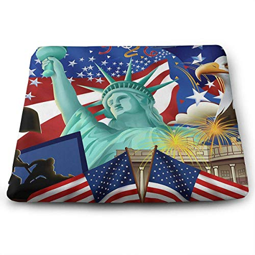 keiwiornb Comfortable Seat Cushion Chair Pad The Flag of The United States Symbols Perfect Memory Foam Cushions Lighten The Bumps