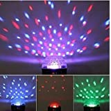 DUSIEC Mini LED RGB Crystal Magic Ball Effect light DMX Disco DJ Stage Lighting with Sound Activation Starry Suitable for disco, ballroom, KTV, bar, stage, club, party etc