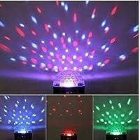 DUSIEC - Sfera di luci a LED RGB in cristallo effetto disco, attivazione del suono, effetto stellato, ideale per discoteche, locali, club, karaoke, bar, palchi, club, feste, etc