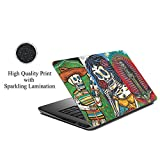 ezyprnt Skull and Abstract F (13 to 13. 9 inch) Sparkle Laptop Skin Sticker