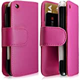 Housse coque étui portefeuille pour Apple Iphone 3G / 3GS couleur rose fuschia + film écran