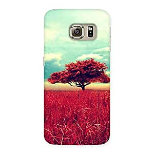Neo World Red Tree Back Case Cover for Samsung Galaxy S6 Edge