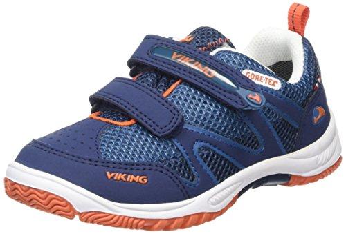 Viking Cascade Gtx, Baskets Basses mixte enfant Bleu - Blau (Navy/Blue 535)
