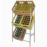 Kistenregal Silber Getränkekistenregal Kastenregal Flaschenkastenregal Getränkekistenständer Kastenständer für 6 Kästen