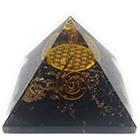 Energetische Pyramide schwarz Turmalin mit Die Blume des Lebens Symbol, Orgonite Energie Generator mit Kristall... preisvergleich bei billige-tabletten.eu