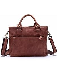 Preisvergleich für WanJiaMen'Shop Mens Handtasche Leder Handtasche Single Umhängetasche Business Freizeitaktivitäten Baotou Schicht...
