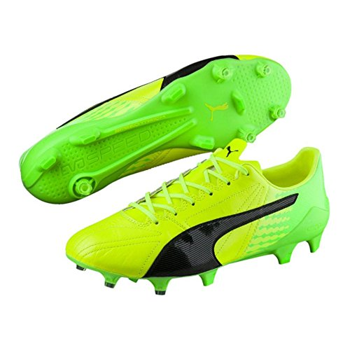 Puma evoSPEED 17 SL K Lth FG - safety yellow-puma black-green Gelb
