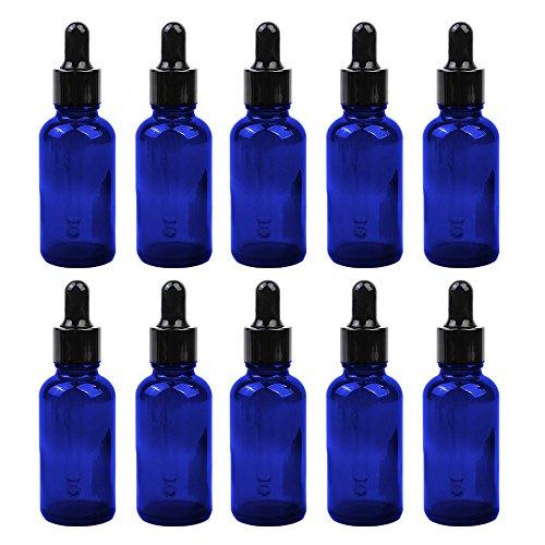 10 STÜCKE Tragbare Reise 20 ML Braun Leere Nachfüllbare Glasflaschen Ätherisches Öl Parfüm Flüssige Container Flaschen mit Kopf-Droppers -
