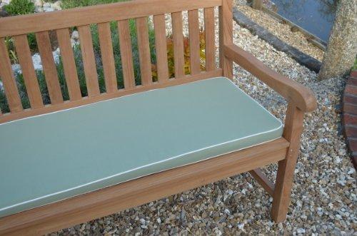 3 posti (1,4 m/140,21 cm) lusso cuscino per panchina da giardino con imbottitura di alta qualità e tessuto - cuscino solo - verde oliva