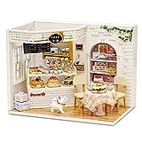 Godbless Puppenhaus 1 Stück DIY puppenhaus Mini Haus mit Licht und Abdeckung als Geschenk für Kinder (Bäckerei)