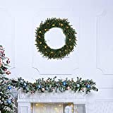 Weihnachtskranz Türkranz mit Kugeln Außen Weihnachtsdeko für Tür und Fenster