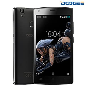 [Official Store] DOOGEE X5 Max Pro Smartphone, Android 6.0 4G SIM-Free Unlocked Cell Phones - 5 Inch HD IPS Display - 2GB RAM+16GB ROM - 5.0MP+8.0MP Camera - 4000mAh Fingerprint Mobile Phone - Black...