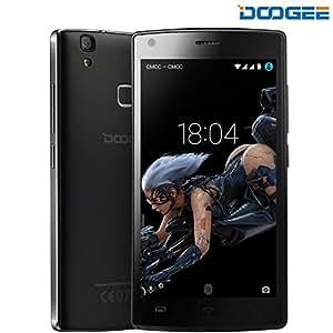 Cellulari in Offerta, DOOGEE X5 Max Pro Dual SIM Smartphone Android 6.0 - 4G 5.0 Pollici HD IPS Display Telefonia Mobile - 4000mAh Cellulare con 16GB ROM 2GB RAM - 8.0MP Fotocamera Digitale e Impronta Digitale - Nero