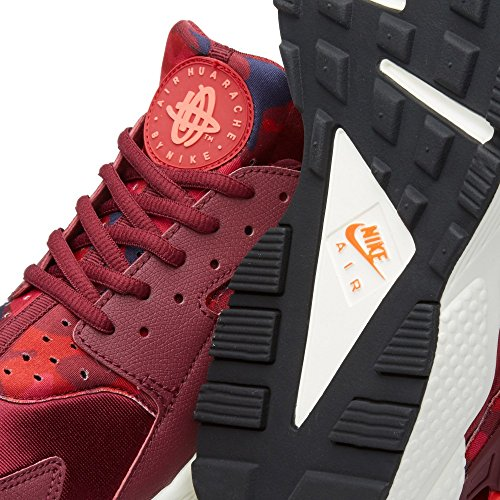 Nike Unisex-Erwachsene Wmns Air Huarache Run Print Turnschuhe Rojo (Deep Garnet / Bright Crimson)