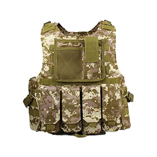 Einstellbare Taktische Militärweste, 600D Nylon Army Paintball Airsoft Combat Assault Weste, für Army Combat Game Dschungel und Outdoor-Aktivitäten Cs Tactical Protective Equipment