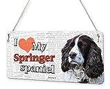 Beenanas Springer Spaniel Dog I Love My Pet Placa metálica