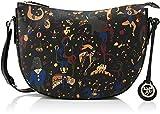Piero Guidi Damen 210044088 Schultertasche, Schwarz (Nero Profondo), 31x21x8,5 cm