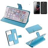 Flipcover Schutz Hülle für UMI Hammer S, blau (hellblau)