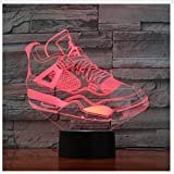 7 Colorful USB Sneaker Shoes 3D Illusion Lamp Kids Bedroom Sleep Light LED Table Lamp Child Night Lights Christmas Gifts