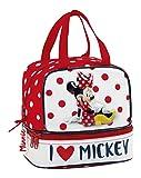 Minnie Minnie Mouse Kosmetiktäschchen, 20 cm, Mehrfarbig (Rojo Y Blanco)