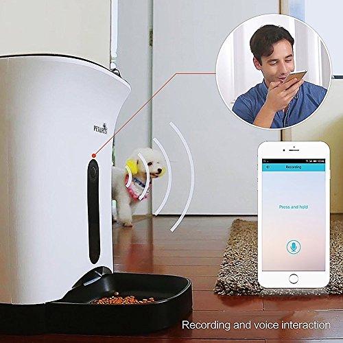 Wopet 4,3L Automatisierte Futterspender Futterautomat mit Kamera für Katzen und Hunde,kontrollieren durch APP von Iphone, Andriod Handy - 2