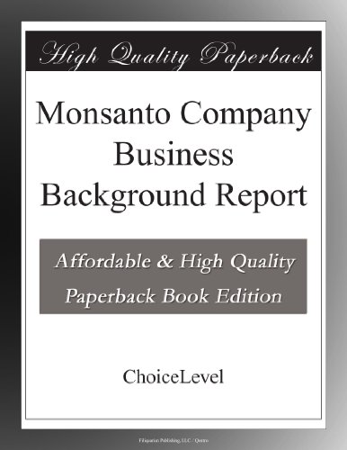 monsanto-company-business-background-report