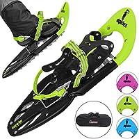 ALPIDEX Schneeschuhe 25 INCH für Schuhgröße 35-45, bis 100 kg, mit Double-Traction Bindung und inklusive Tragetasche - wahlweise mit oder ohne Stöcke erhältlich