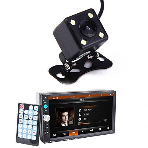 Auto-Stereo-MP5-Player, Bluetooth-Kfz-Stereo-Player mit Kartenleser, Radio, Schnelllade- und Kamera-Funktion, 7Zoll -