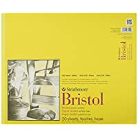 "Strathmore 300 Series Bristol Smooth Pad, 14""x17"" Tape Bound, 20 Sheets"