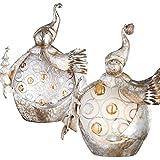 2er Set Schneemänner Weihnachts Deko Beleuchtung gold Tisch Lampen weiß