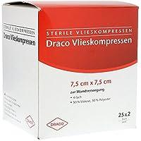 VLIESSTOFF-KOMPRESSEN 7,5x7,5 cm steril 4fach 50 St Kompressen preisvergleich bei billige-tabletten.eu