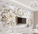 3D wallpapers per soggiorno 3d bello stile Europeo di fiori di perla custom 3d sfondo foto Home Decoration 200cmX150cm