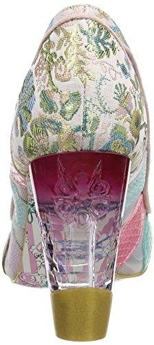 Irregular Choice Damen Well Heeled Pumps Rosa (Rosa/Weiß)