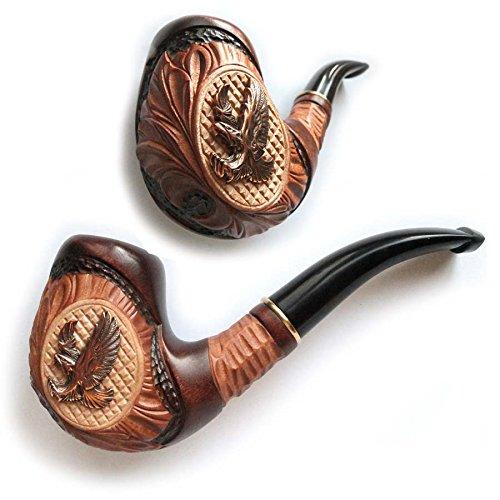 Dr.Watson - Handgemachte Raucher Pfeife / Tabakpfeife, Holz - Passt 9mm aktivkohlefilter (Adler) (Hand Geschnitzt Adler)