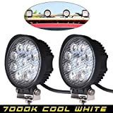 #3: AutoSun 27W Flood Round Work LED Light Fog Driving DRL Offroad SUV Boat Truck ATV Car (Pack of 2)